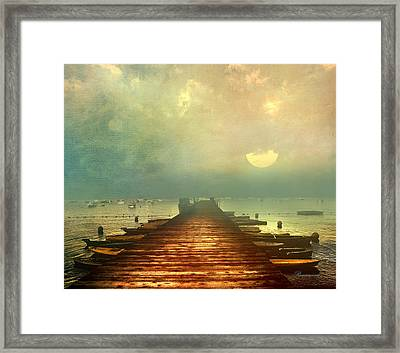 From The Moon To The Mist Framed Print