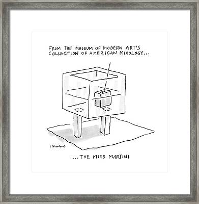 From The Museum Of Modern Art's Collection Framed Print by Michael Crawford