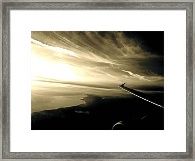 From The Plane Framed Print by Gwyn Newcombe
