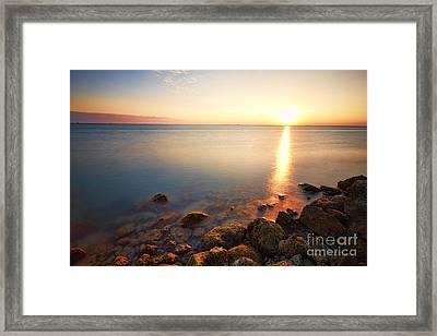 From The Rocks Sunset  Framed Print by Eyzen M Kim