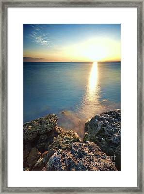 From The Sea Rocks Framed Print by Eyzen M Kim