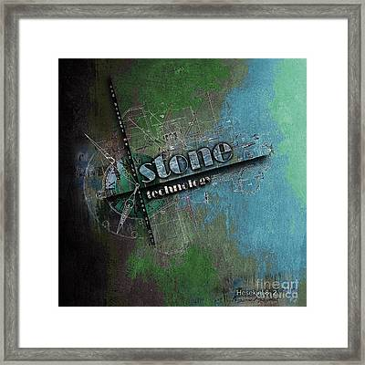 from the Stone Age to now Framed Print by Franziskus Pfleghart
