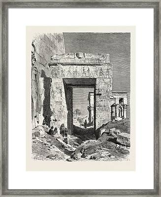 From The Temple Of Isis At Philae Framed Print