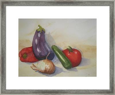From The Tuscan Garden Framed Print by Maria Hunt
