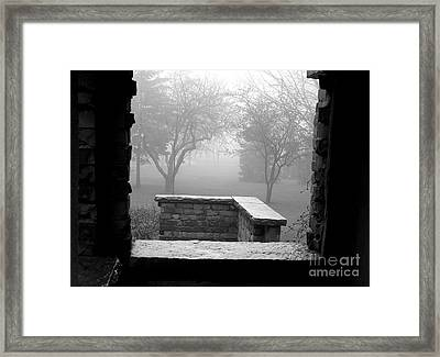 From The Window Framed Print