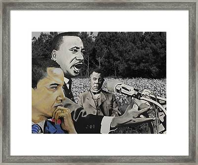 From Then To Now Framed Print