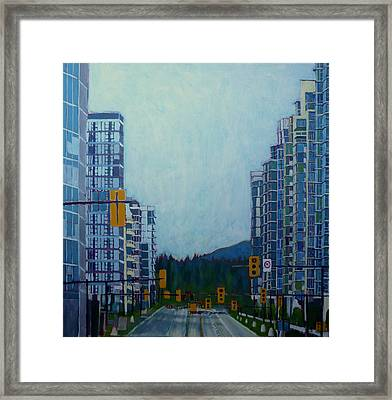 From Vancouver To The Mountains Framed Print by Sandrine Pelissier