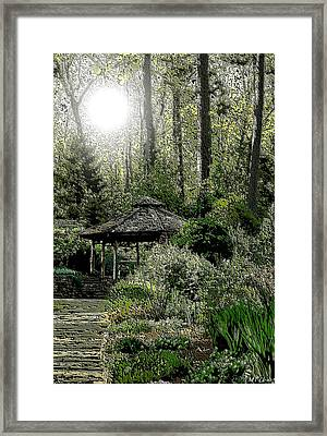 From Whence The Light Came Framed Print by Maria Urso