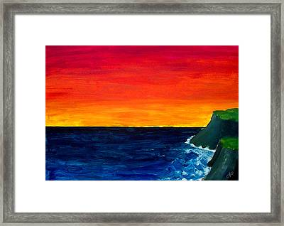 From Where The Sun Meets The Sea Framed Print