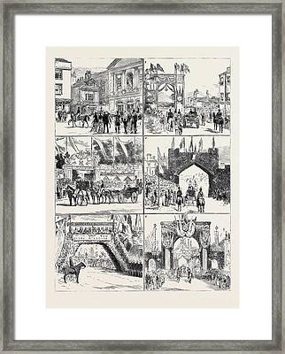 From Windsor To Claremont 1. The Bride And Bridegroom Framed Print