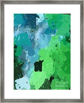 From Winter Blues To Spring Greens Framed Print