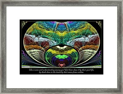 From Wisdom Framed Print