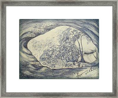 Framed Print featuring the drawing From Within by Leanne Seymour