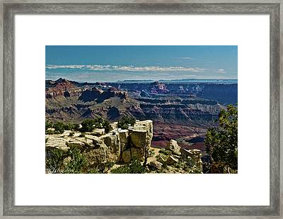Framed Print featuring the photograph From Yaki Point 2 Grand Canyon by Bob and Nadine Johnston