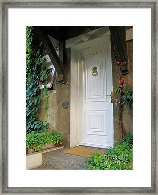 Framed Print featuring the photograph Front Door by Arlene Carmel