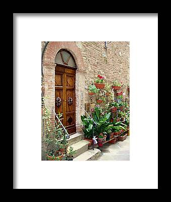 Red Door Framed Prints