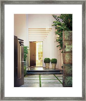 Front Door Of House Framed Print by Scott Frances