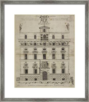 Front Elevation Of A Baroque Building In Framed Print