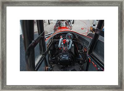 Front Engine Dragster Cockpit Framed Print