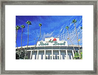 Front Entrance To The Rose Bowl Framed Print