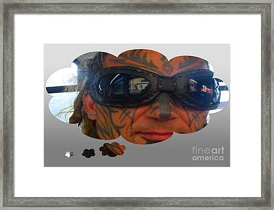 Front Face Tattoo Framed Print by Tina M Wenger