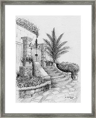 Front Gate Framed Print
