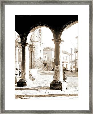Front Of Cathedral, A Bit Of Old Havana, Cuba, Cathedrals Framed Print by Litz Collection