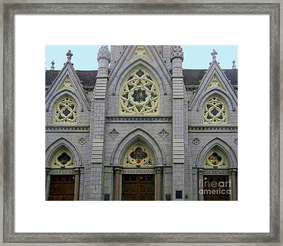 Framed Print featuring the photograph Front Of Church by Gena Weiser