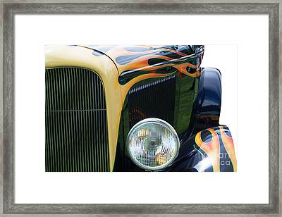 Framed Print featuring the photograph Front Of Hot Rod Car by Gunter Nezhoda