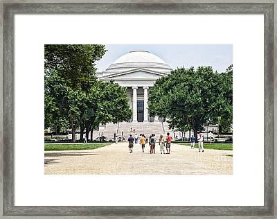Front Of The National Gallery Of Art In Washington Dc Framed Print by William Kuta