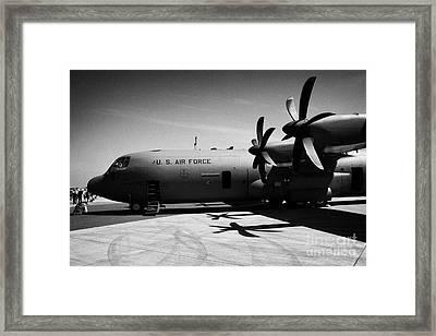 Front Of United States Air Force Aetc Cc130j Cc130 C130 C 130 130j Hercules Aircraft Framed Print by Joe Fox