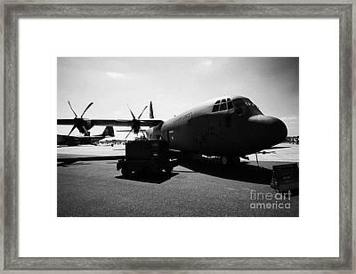 Front Of United States Air Force Aetc Cc130j Hercules Aircraft C130 C 130 Framed Print by Joe Fox