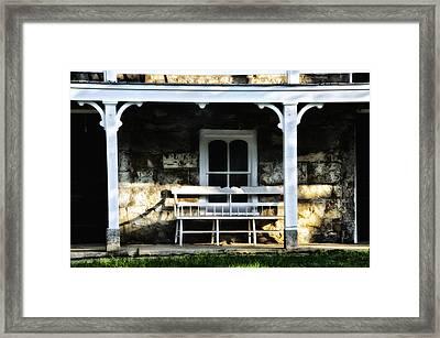 Front Porch Bench Framed Print