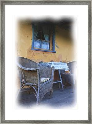 Front Porch. Framed Print by Ian  Ramsay