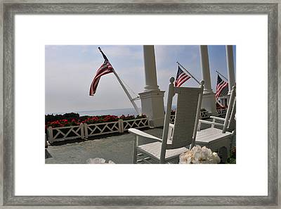 Front Porch II Grand Hotel On Mackinac Island Framed Print