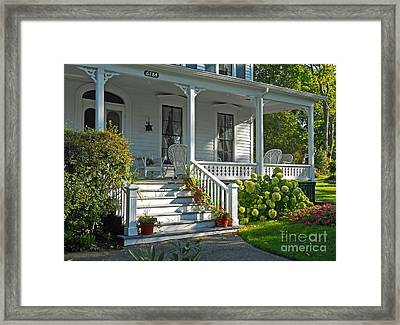 Front Porch In Summer Framed Print