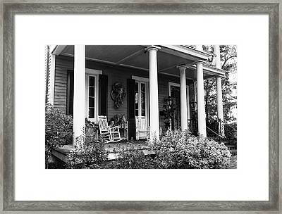 Front Porch In The Garden District Mono Framed Print by John Rizzuto