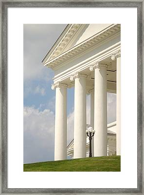 Framed Print featuring the photograph Front Porch Of Virginia State Capitol Richmond Va by Suzanne Powers