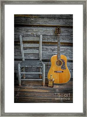 Front Porch Pick'n Framed Print by Marion Johnson