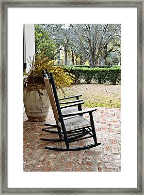 Front Porch Rockers Framed Print