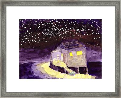 Front Porch Stars Framed Print