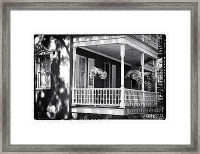 Front Porch Style Framed Print by John Rizzuto