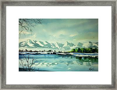 Front Range At Boulder Colorado Framed Print