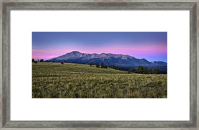 Front Range First Light Framed Print by Thomas Zimmerman