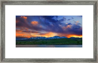 Front Range Light Show Framed Print by Darren  White