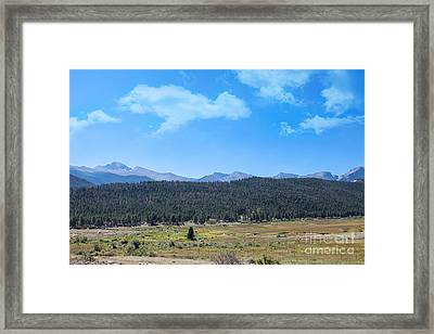 Front Range Rockies Framed Print by Kay Pickens