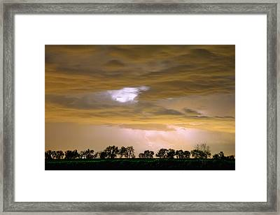 Front Row Seat For The Storm Framed Print