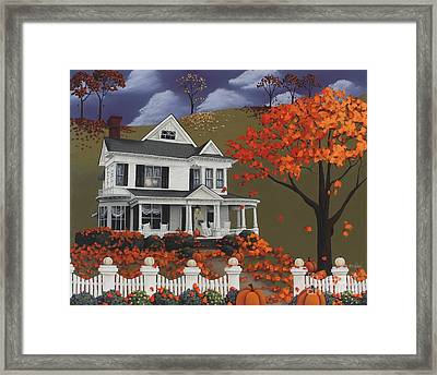 Front Row Seats At Wingate Place Framed Print by Catherine Holman