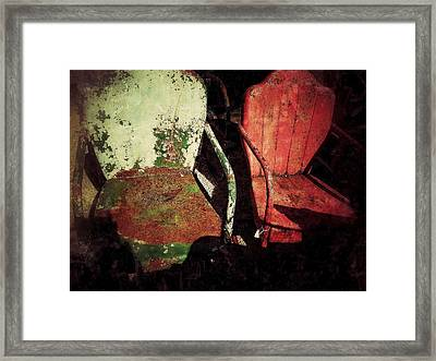 Front Seats Framed Print by Olivier Calas