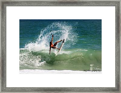 Front Side Air Framed Print by Marty Gayler